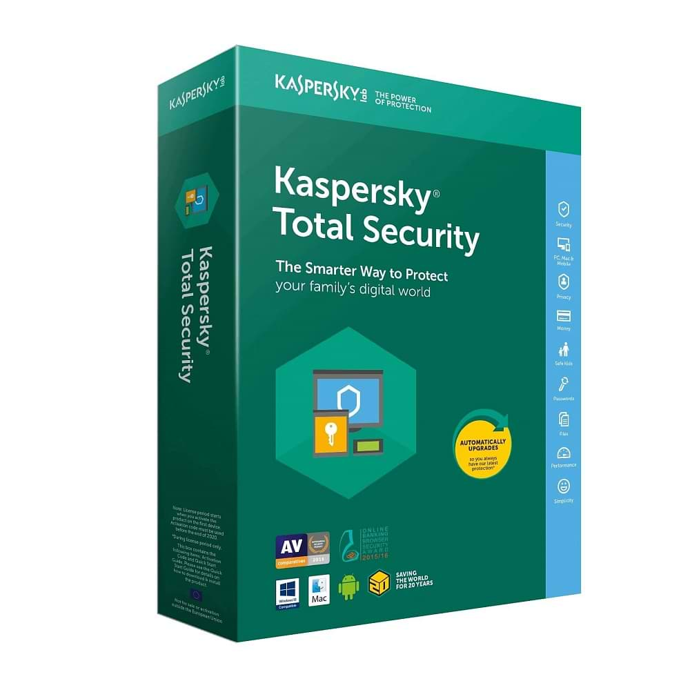Kaspersky - Total Security 1 Year License / 3 Users