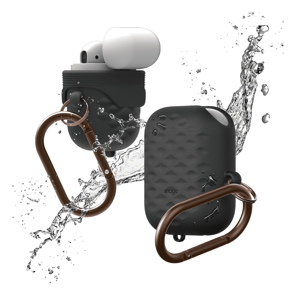 elago - AirPods Waterproof Hang Active Case / Black