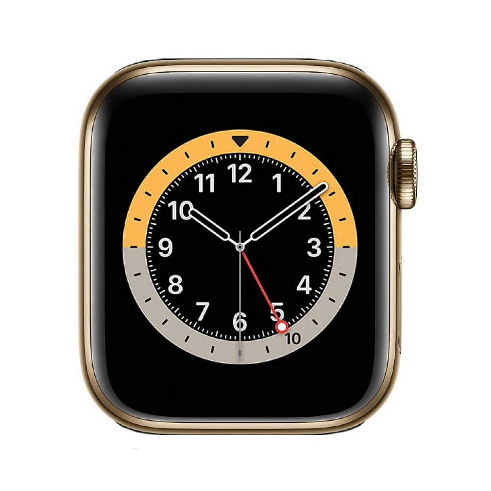 Apple Watch Series 6 GPS + Cellular 40mm / Gold Stainless Steel Case with Cyprus Green Sport Band *תצוגה*