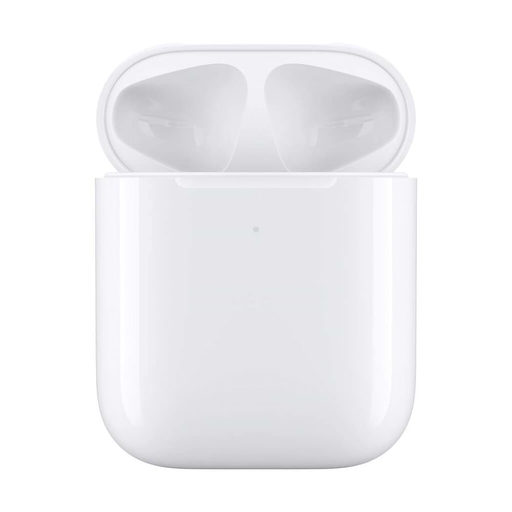 Apple - Wireless Charging Case for AirPods / White
