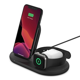 Belkin - 3-in-1 Wireless Charger for iPhone & Apple Watch & AirPods