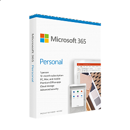Microsoft - Microsoft 365 Personal Hebrew Subscription / 1 Year Medialess