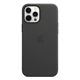 iPhone 12 Pro Max Leather Case with MagSafe / Black *תצוגה*