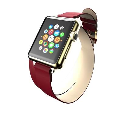 Incipio - Reese Double Wrap for 38mm Apple Watch / Red Red