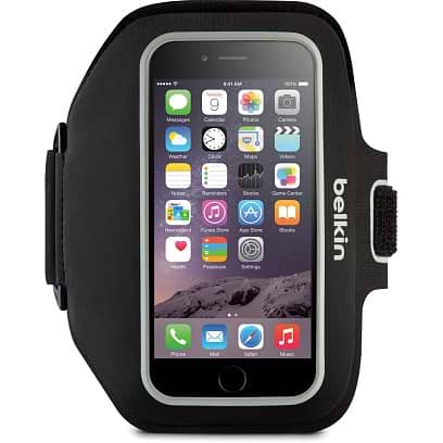 Belkin - Sport-Fit Plus Armband for iPhone 6/6s/7/8/X Black