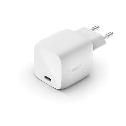 Belkin - USB-C GaN Wall Charger 30W / White White