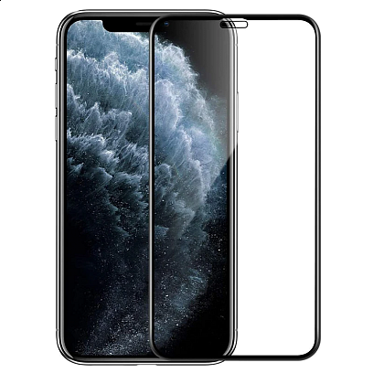 Spirit - Full Glass Screen Protector for iPhone 11 / Clear Black