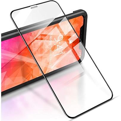 Spirit - Full Glass Protector for iPhone 11 / Black Black
