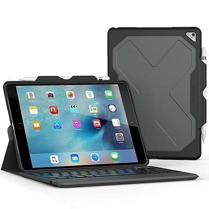 Zagg - Rugged Messenger Wireless Keyboard for iPad Pro 10.5 Black
