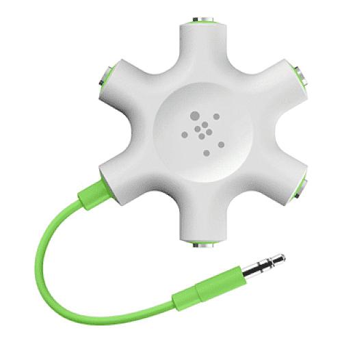 RockStar 5-Jack 3.5 mm Audio Headphone Splitter