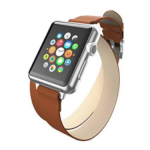 Incipio - Reese Double Wrap for 42 Apple Watch / Tan