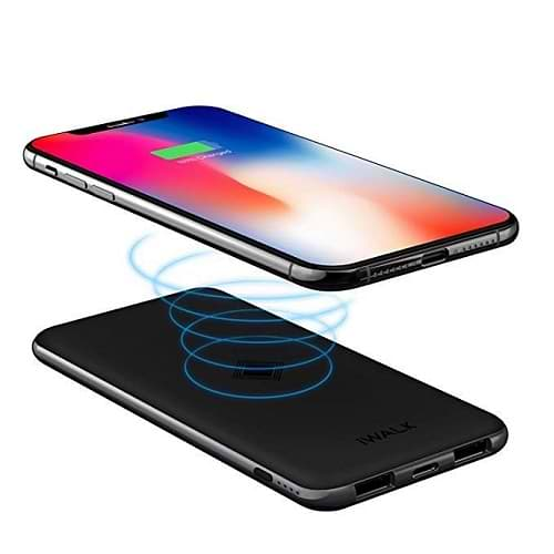 iWalk - BackUp Battery 8000 mAh QI Wireless Charging / Black