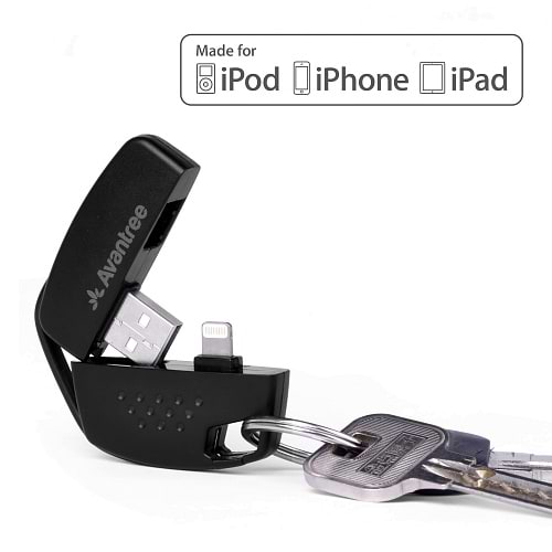 Avantree - Keychain Ligthning to USB Cable / Black