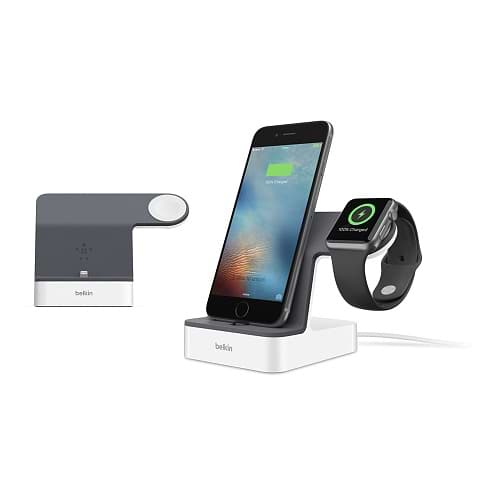 Belkin - PowerHouse™ Charge Dock for Apple Watch + iPhone
