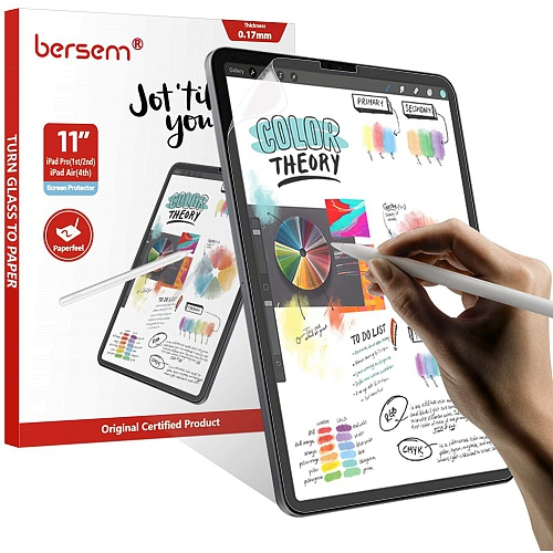Bersem - (3 Pack) Paperfeel Screen Protector for iPad Air 10.9 & iPad Pro 11 (2021) / Clear/Matte