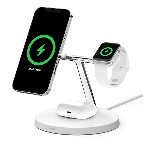 Belkin - BOOST↑CHARGE™ PRO 3in1 Wireless Charger with MagSafe
