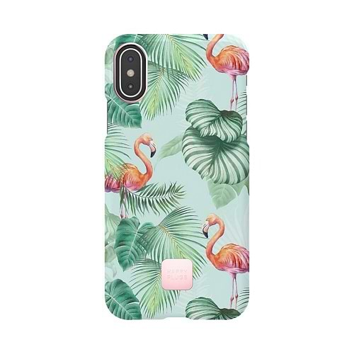 HappyPlugs - Case for iPhone XS / Pink Flamingo