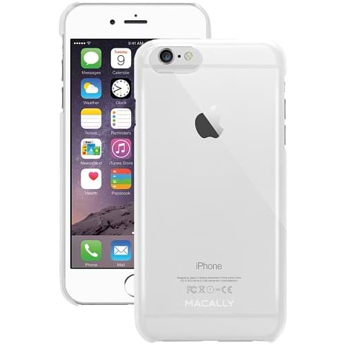 Macally Metallic Snap-On Clear Case for iPhone 6/6s Plus