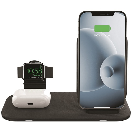 mophie - 3-in-1 Wireless Charging Stand / Black