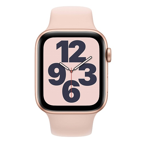 Apple - Apple Watch SE GPS 44mm / Gold Aluminium Case with Pink Sand Sport Band