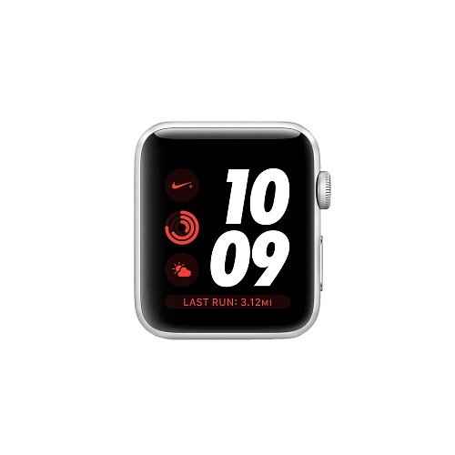 Apple Watch Series 3 Nike+ GPS 42mm Silver Aluminum Case with Pure Platinum/Black Nike Sport Band *תצוגה*