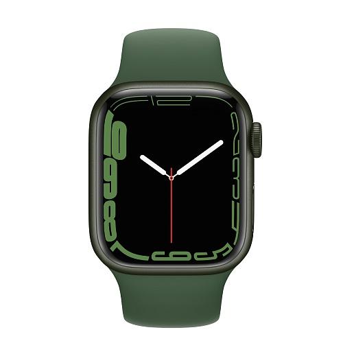 Apple - Apple Watch Series 7 GPS + Cellular 41mm / Green Aluminium Case / Clover Sport Band