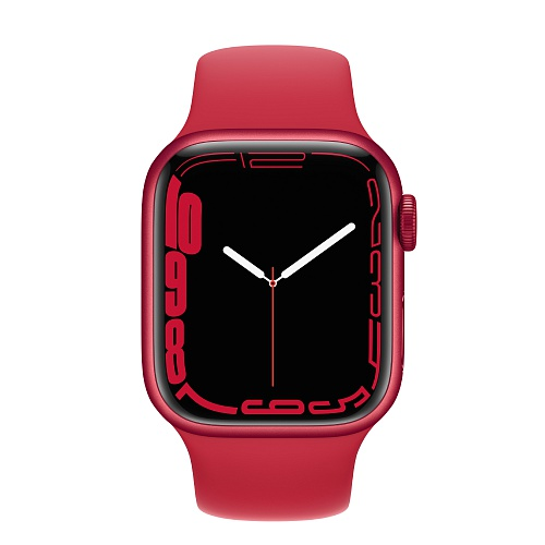 Apple - Apple Watch Series 7 GPS + Cellular 41mm / PRODUCT(RED) Aluminium Case / PRODUCT(RED) Sport Band