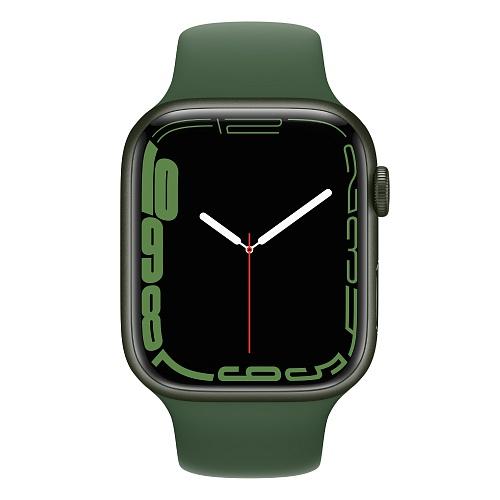 Apple - Apple Watch Series 7 GPS + Cellular 45mm / Green Aluminium Case / Clover Sport Band