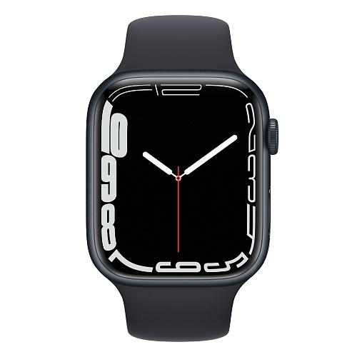 Apple - Apple Watch Series 7 GPS + Cellular 45mm / Midnight Aluminium Case / Midnight Sport Band