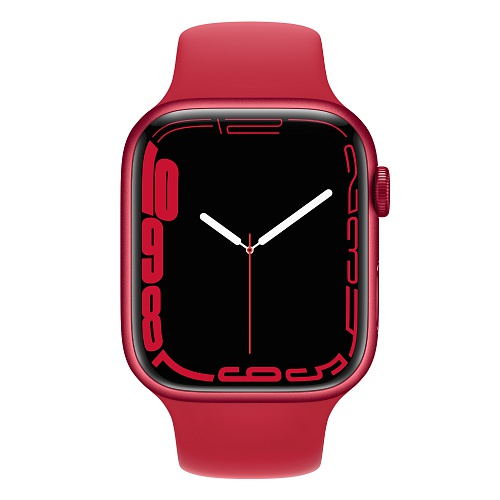Apple - Apple Watch Series 7 GPS + Cellular 45mm / PRODUCT(RED) Aluminium Case / PRODUCT(RED) Sport Band