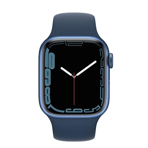 Apple - Apple Watch Series 7 GPS 41mm / Blue Aluminium Case / Abyss Blue Sport Band