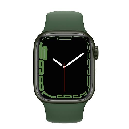 Apple - Apple Watch Series 7 GPS 41mm / Green Aluminium Case / Clover Sport Band