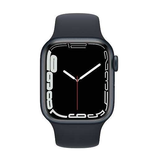 Apple - Apple Watch Series 7 GPS 41mm / Midnight Aluminium Case / Midnight Sport Band