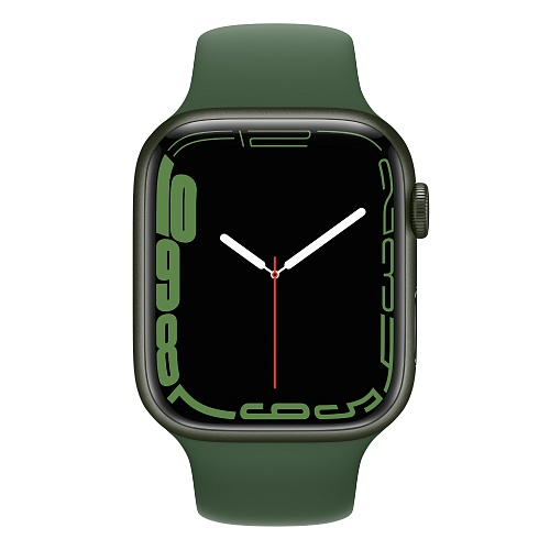 Apple - Apple Watch Series 7 GPS 45mm / Green Aluminium Case / Clover Sport Band