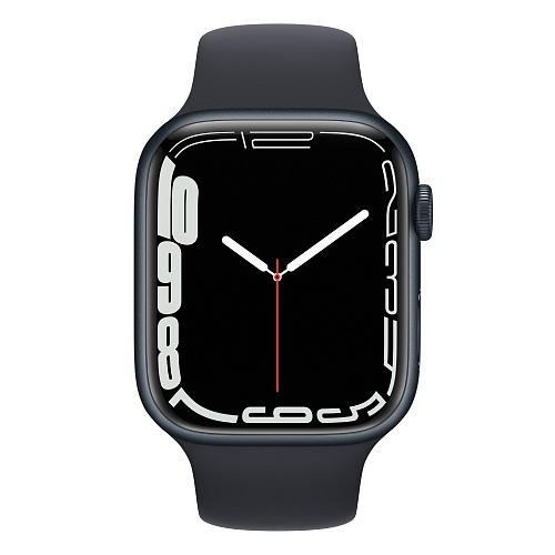 Apple - Apple Watch Series 7 GPS 45mm / Midnight Aluminium Case / Midnight Sport Band