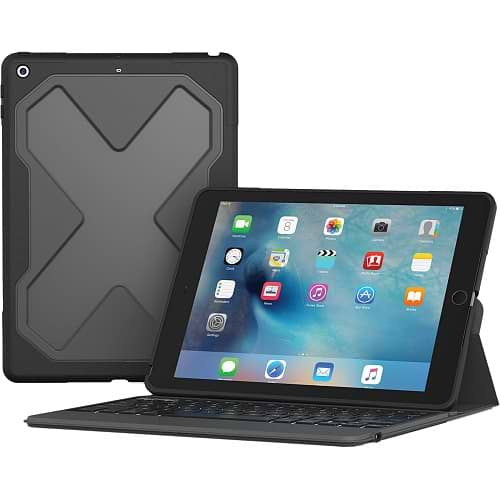 Zagg - Rugged Messenger Wireless Keyboard for iPad Pro 9.7/iPad 2018