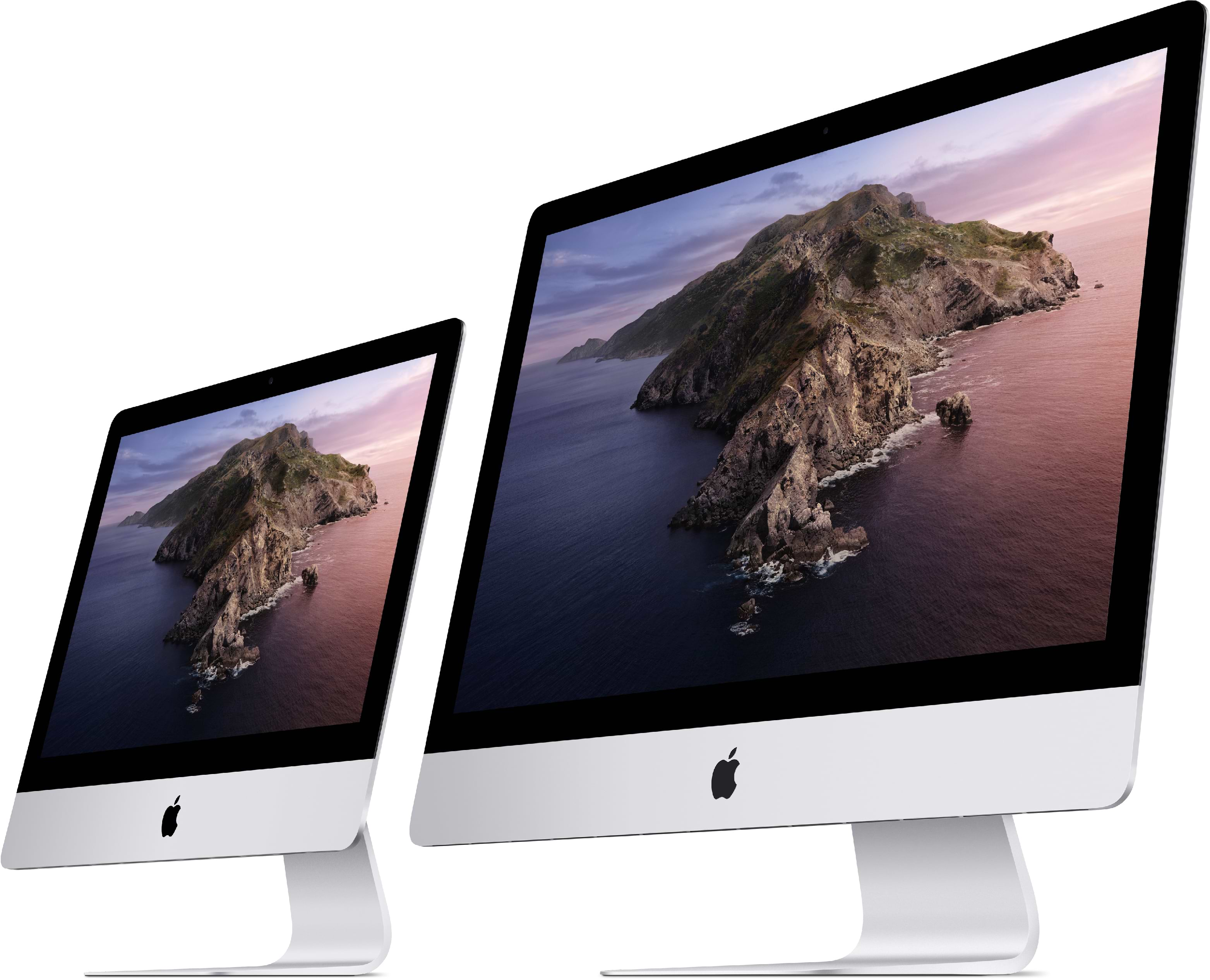 2 iMacs - 21.50-inch and 27-inch side by side